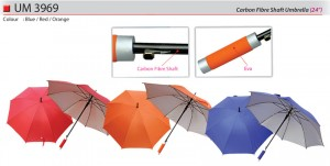 carbon fibre shaft umbrella UM3969