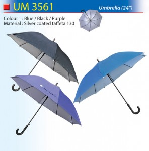 24 inch coloured umbrella UM3561