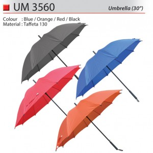 Solid color 30 inch umbrella